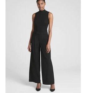 NT Gap High Rise Drapey Wide Leg Pants 8 Black 604